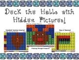 Christmas/Hanukkah/Kwanzaa Multiplication Hidden Pictures bundle, 3 levels each