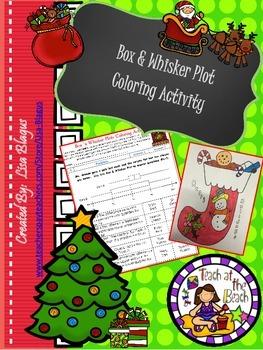 Christmas/Holiday Box and Whisker Coloring Activity