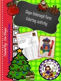 Christmas/Holiday Find equation of Line from Graph Slope Coloring Activity