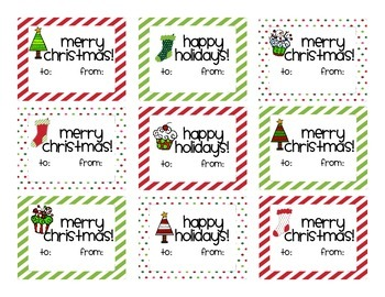 Christmas Holiday Gift Tags and Thank You Cards