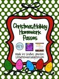 Christmas/Holiday Homework Passes