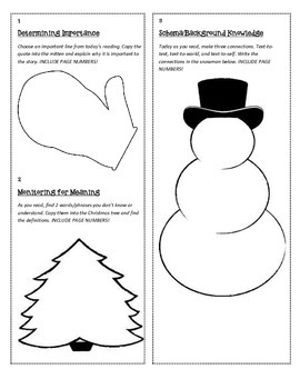 Christmas/Holiday Independent Reading Guide - Thinking Strategies