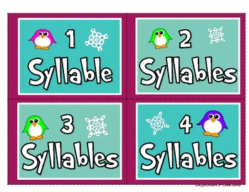 Christmas/Holiday Literacy Activities: Compound Words, ABC Order, Syllables