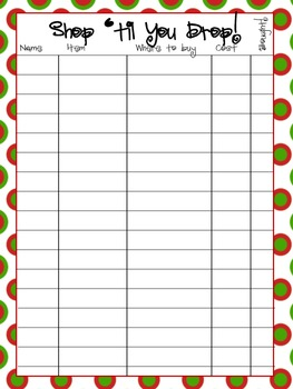 Christmas/Holiday Organizer
