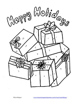 Christmas/Holiday Solving Inequality Coloring Activity
