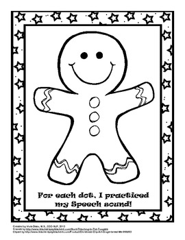 Christmas/Holiday Speech Dots - Articulation Craftivity for Speech Therapy