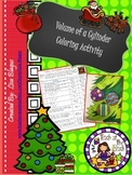Christmas/Holiday Volume of a Cylinder Coloring Activity