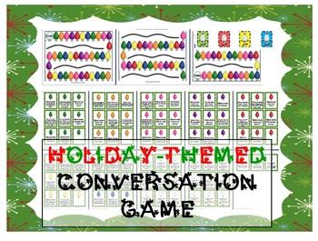 Christmas/Holiday-themed conversation game - Pragmatics, ESL, ASD, Speech