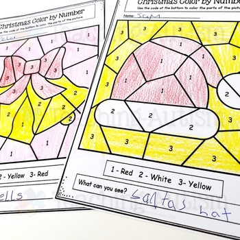 Christmas Activities: Color by Number / Colour by Number