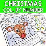 Christmas Activities Color by Number Colour by Number