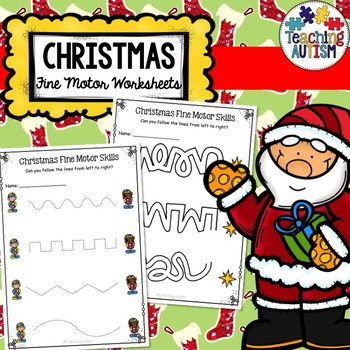 Christmas Activities Fine Motor Skill Worksheets