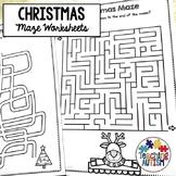 Christmas Maze Worksheets