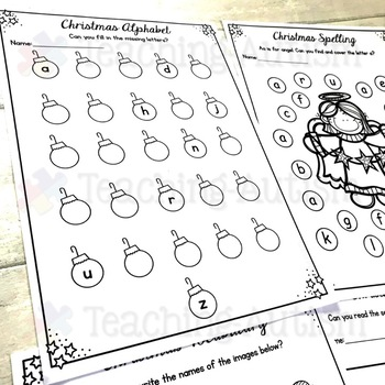 Christmas Activities: Literacy Worksheets