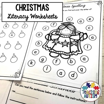 Christmas Activities: Literacy Worksheets