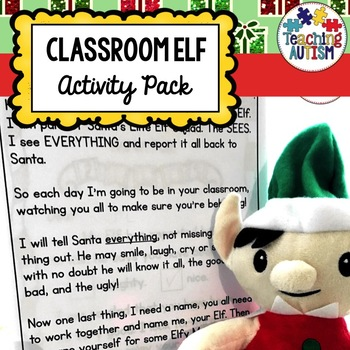 Classroom Elf Christmas Activity Pack