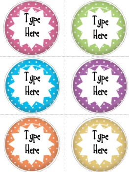 Polka Dots Round Labels