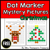 Free Christmas Activities - Mystery Pictures