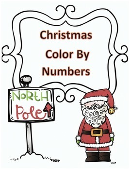 Christmas/Polar Express Math Addition Color by Numbers