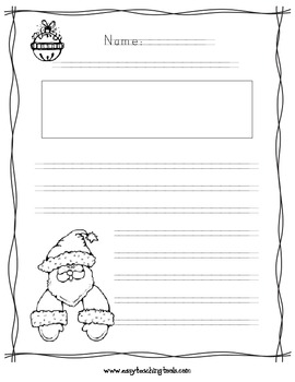 Christmas/Valentine's Day and Winter Handwriting without Tears paper