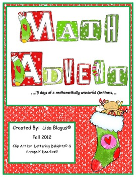 Christmas/Winter Advent Math Review for Daily Standard Review