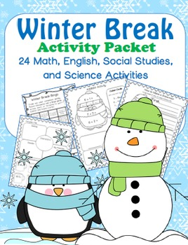 Christmas/Winter Break  Packet- 1st Grade
