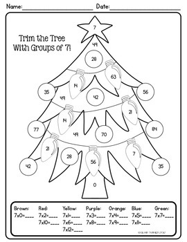 Christmas/Winter Color By Number: Make Multiplication FUN This Holiday Season!