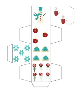 Christmas/Winter Dice Multiplying and Adding Game!