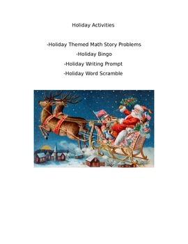 Christmas/Winter Holiday Activities