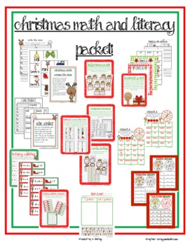 Christmas/Winter Math and Literacy Centers