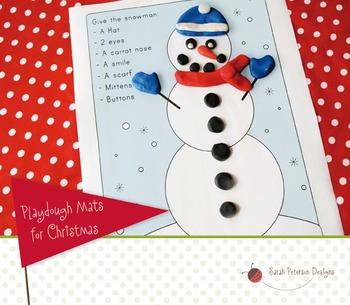 Christmas/Winter Playdough Mats