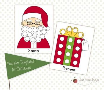 Christmas/Winter Pom Pom Templates