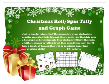 Christmas/Winter Spin or Roll Tally and Graph Game!
