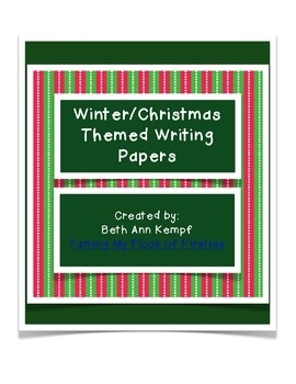Christmas/Winter Themed Writing Paper