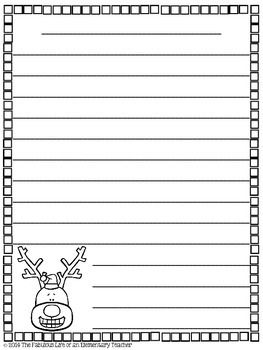 Christmas/Winter Themed Writing Papers *FREEBIE*