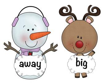 Christmas/Winter Write the Room Freebie
