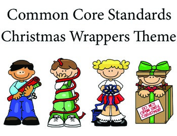 ChristmasWrappers 1st grade English Common core standards posters