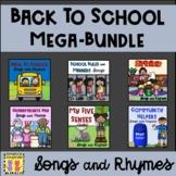 Back To School MEGA-BUNDLE:  Songs & Rhymes