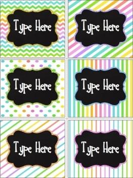 Editable Labels-Neon Labels