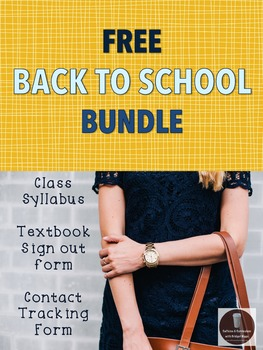 FREE Back To School Syllabus & other forms