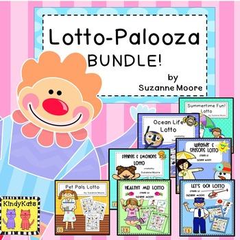 Lotto Games BUNDLE: Health,Feelings, Transportation, Pets,