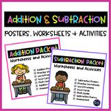 Kindergarten Addition and Subtraction Worksheets -Distance Learning Kindergarten