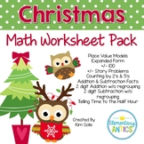 Christmas Math Worksheet Pack
