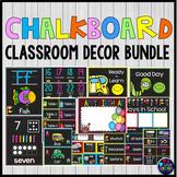 Chalkboard Classroom Decor Bundle Editable | Classroom Labels Editable