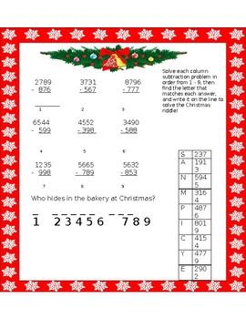 Christmassy Column Subtraction!