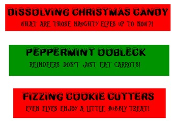 Christmast Holiday Science Experiments/Activities