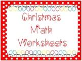 Christmath Worksheets