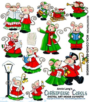 Christmouse Carols Character Clipart