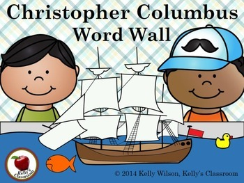 Columbus Day Vocabulary Word Wall