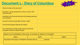 Christoper Columbus Document Based Investigation