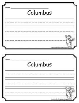 Christopher Columbus - 1492, A Literacy Pack